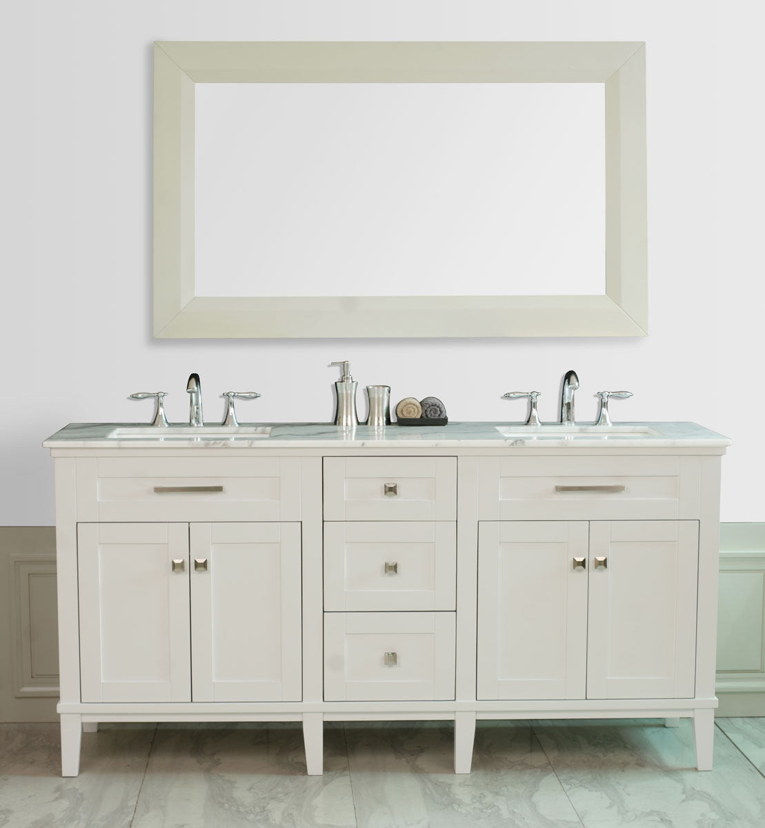 "72"" Christine Double Sink Vanity with included mirror"