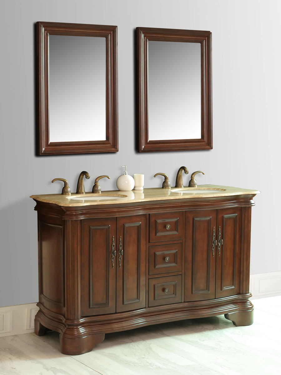 "58"" Moscone Double Sink Vanity - with included mirrors"