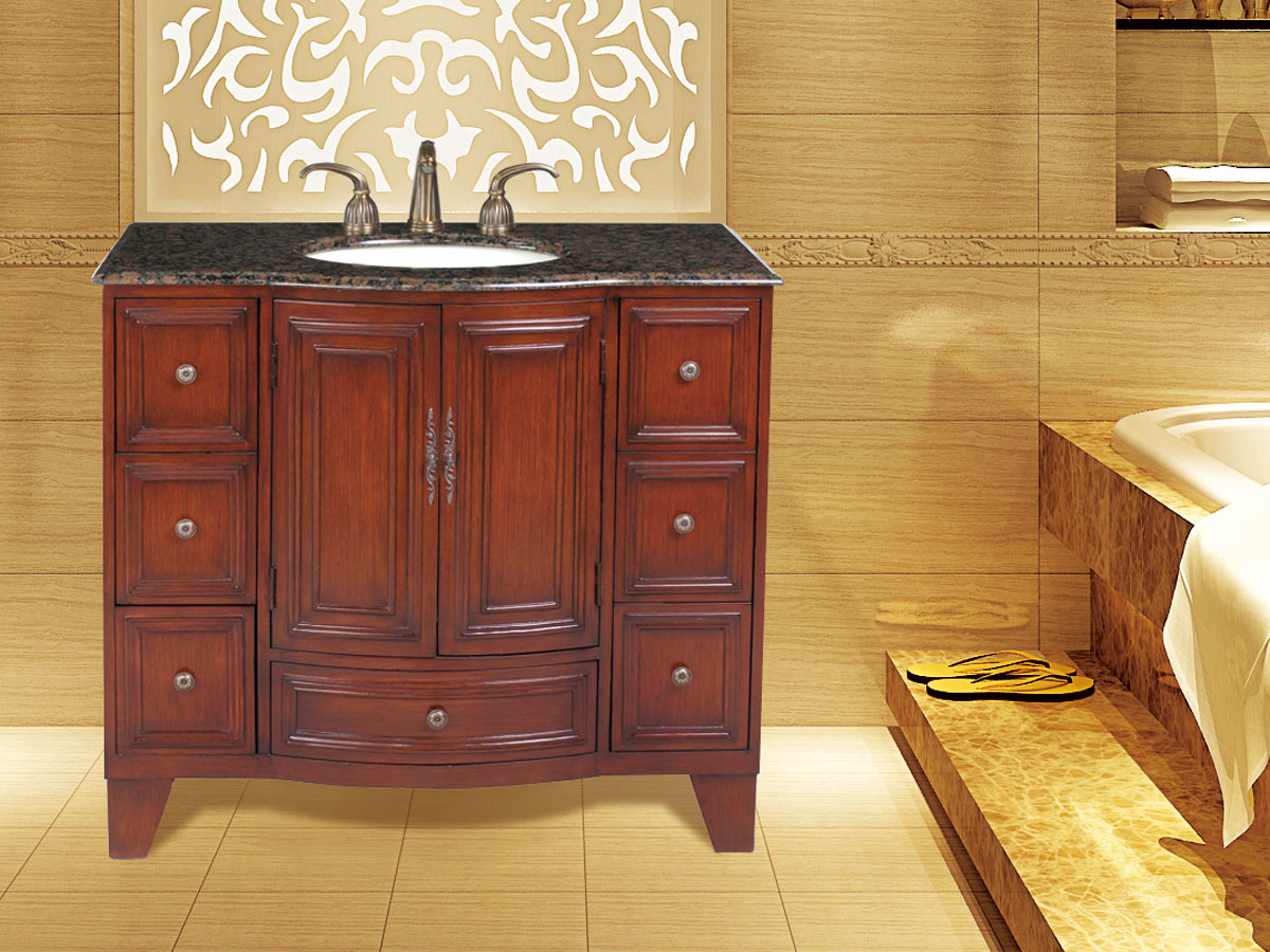 "40"" Grand Cheswick Single Vanity - with Baltic Brown Top"