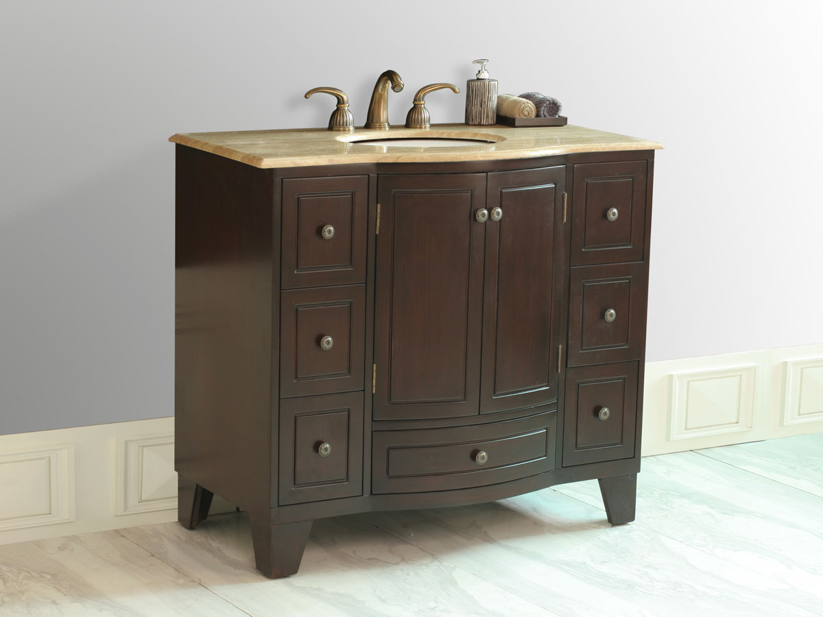 "40"" Grand Cheswick Single Vanity - with Travertine Top"