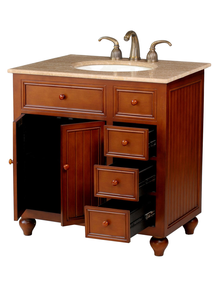 Double-door cabinet with 3 drawers