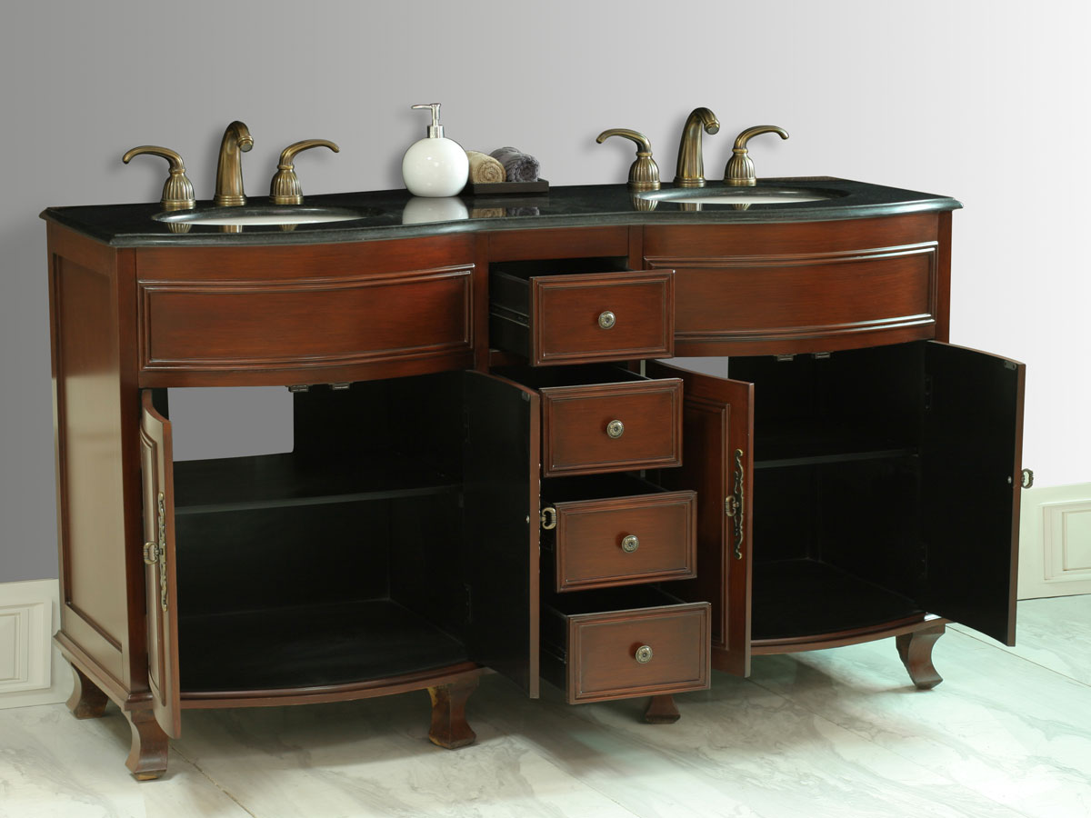 Two Double-Door Cabinets and Four Functional Drawers