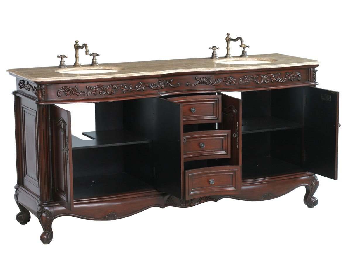 Two Double-Door Cabinets and Three Functional Drawers