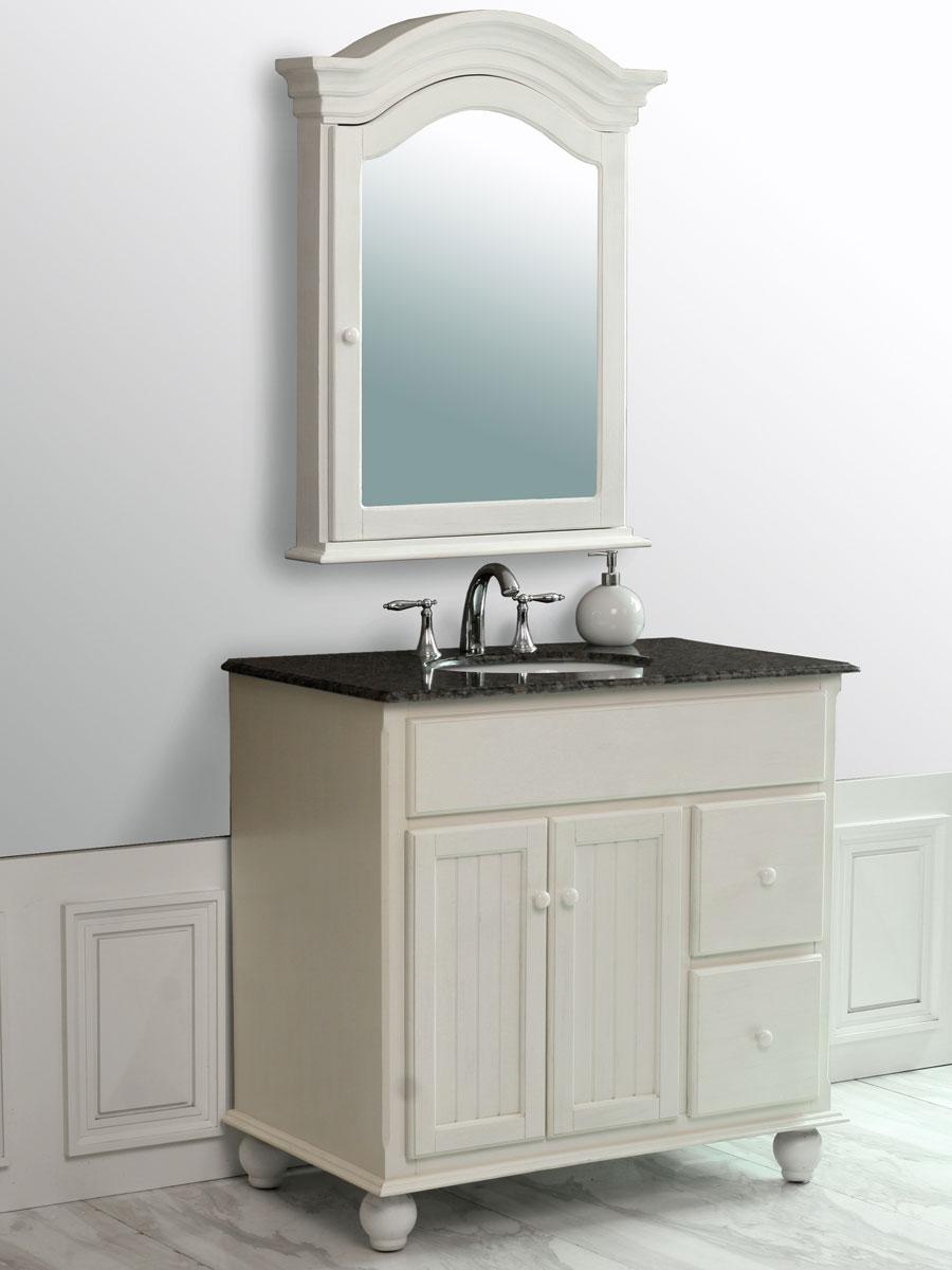 """36"""" Snow White Single Bath Vanity"""