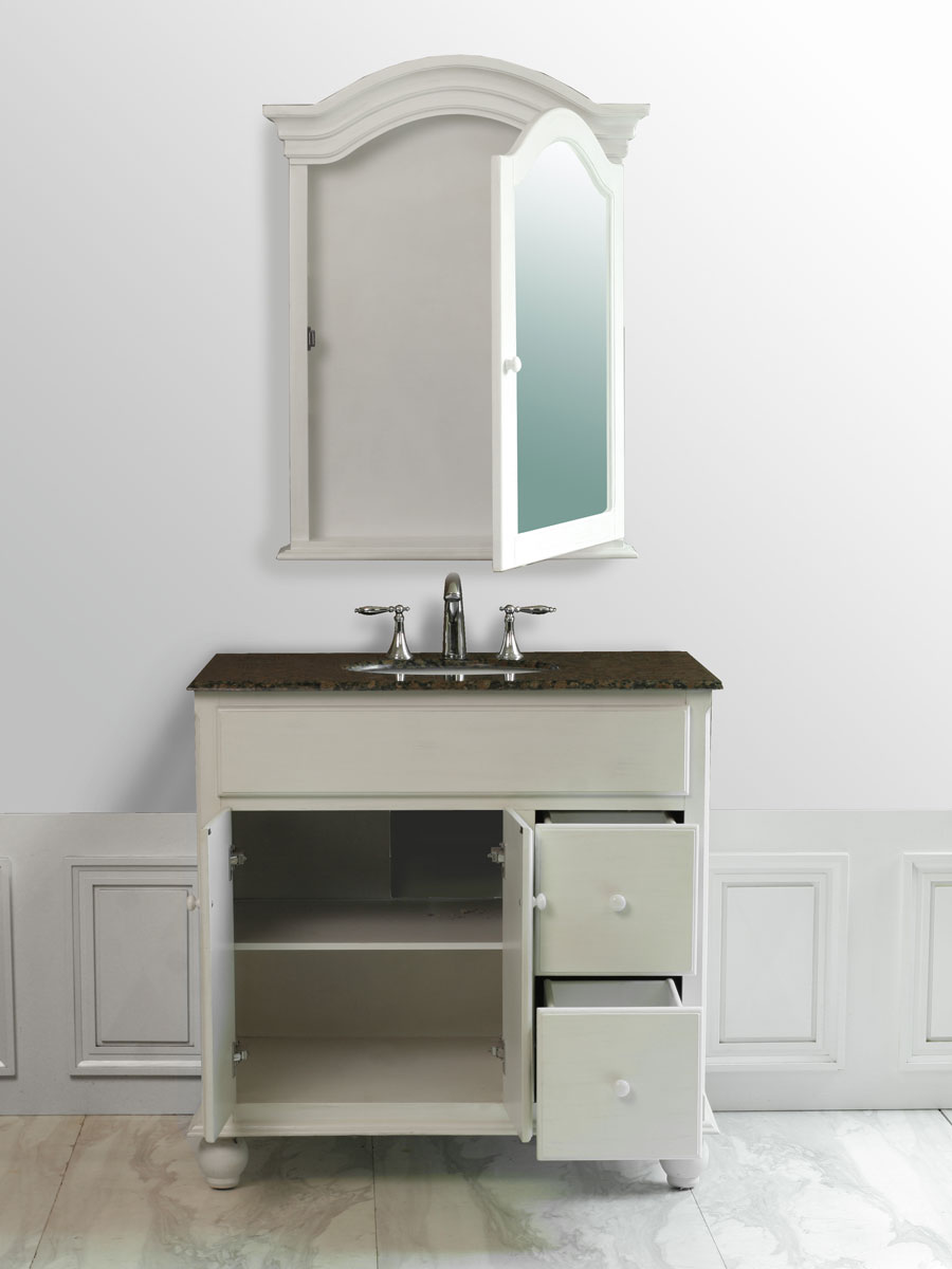 Double-Door Cabinet and Two Functional Drawers