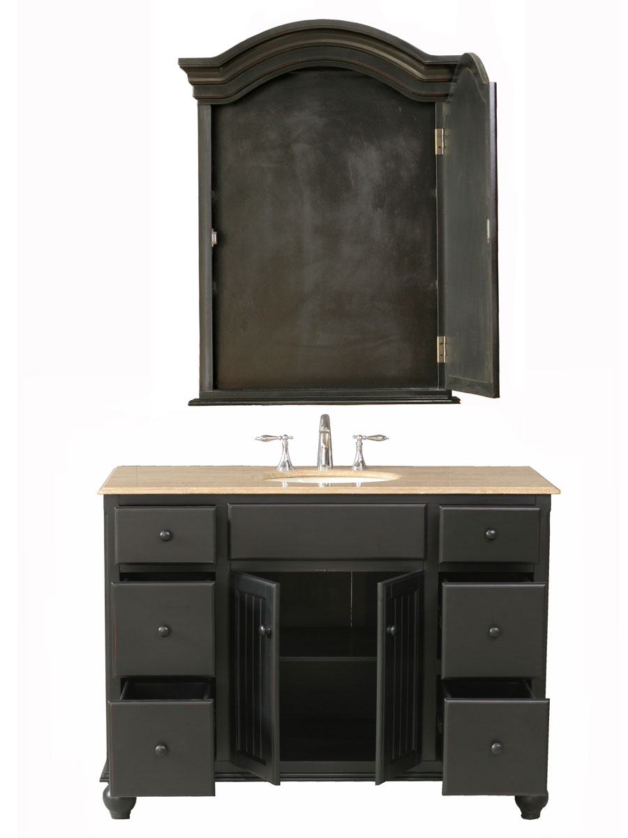 Double-Door Cabinet with Six Functional Drawers