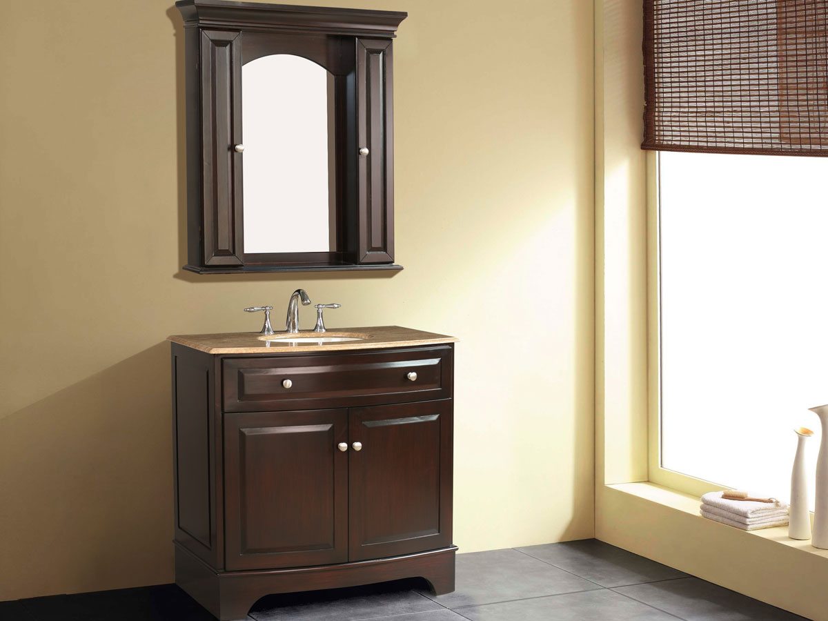 "36"" Amanda Single Bath Vanity with included mirror and cabinets"