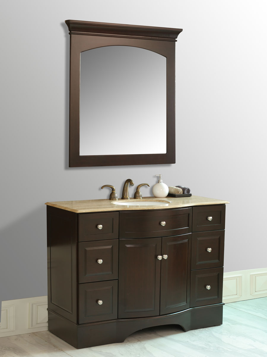 "48"" Lotus Single Bath Vanity - with included mirror"