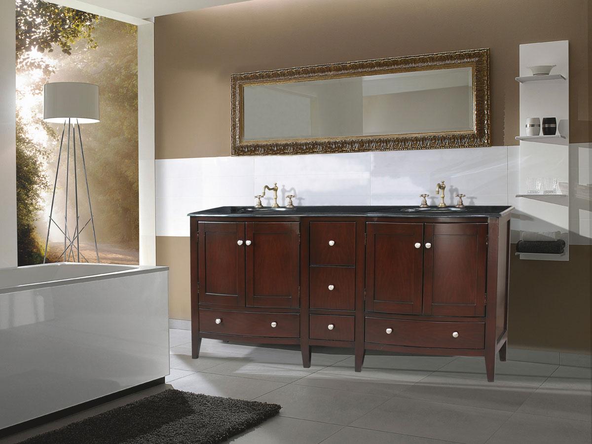 """72"""" Corona Double Sink Vanity"""