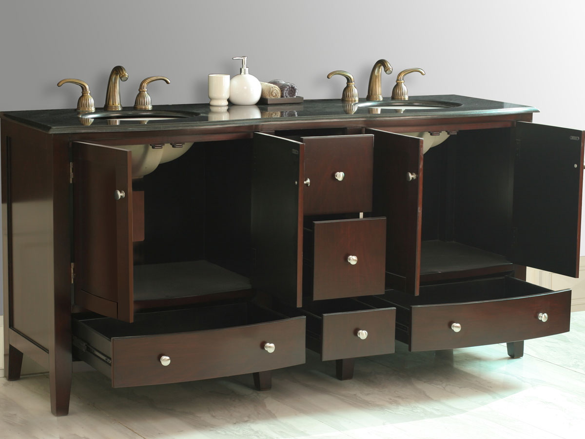 Two Double-Door Cabinets and Five Functional Drawers