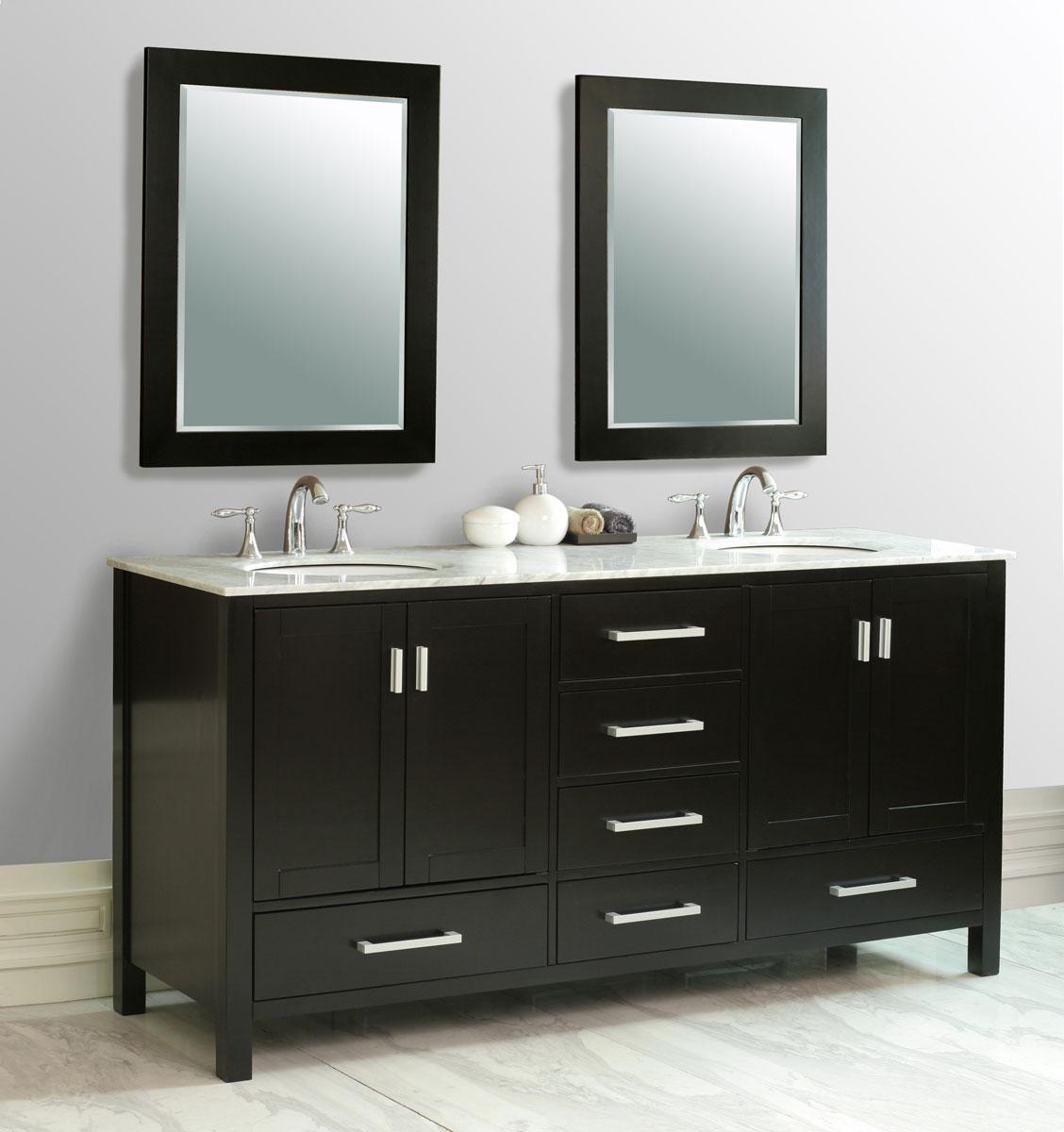 """72"""" oslo double sink vanity - bathgems"""