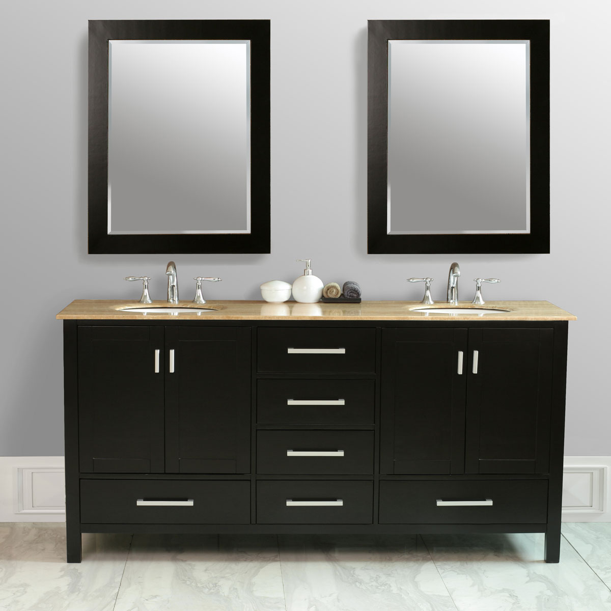 "72"" Malibu Double Vanity with included mirrors"
