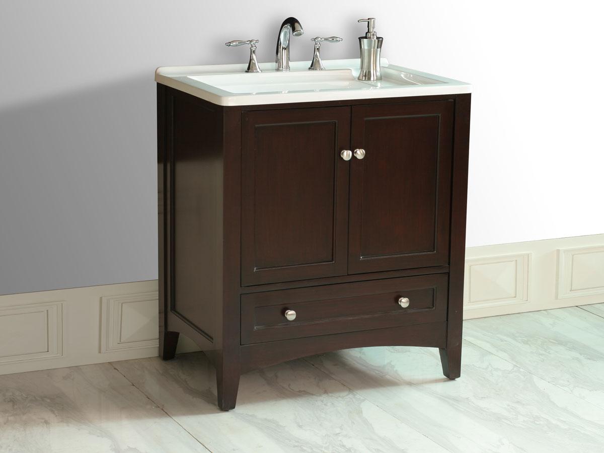 "30.5"" Expresso Single Sink Vanity"
