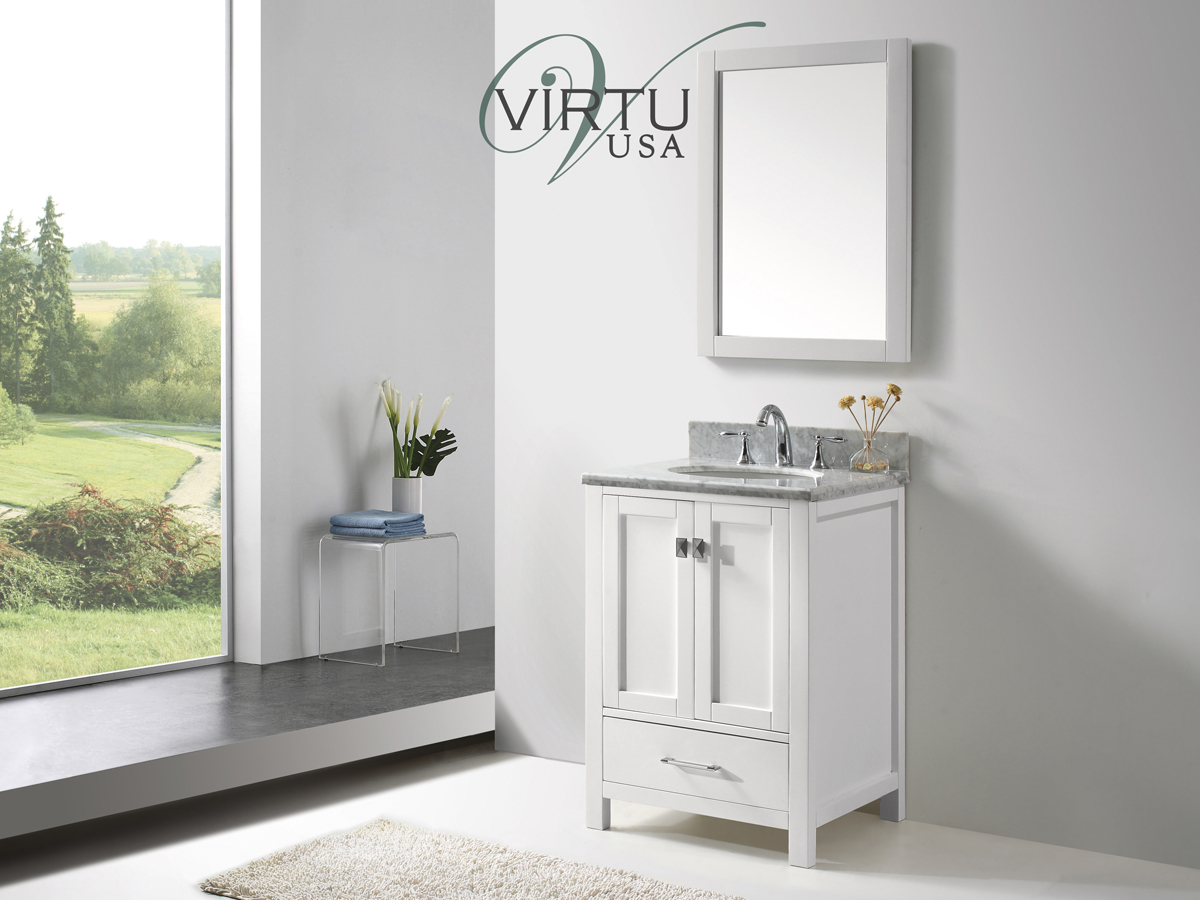 "25"" Caroline Avenue Single Vanity - with Round Sink"