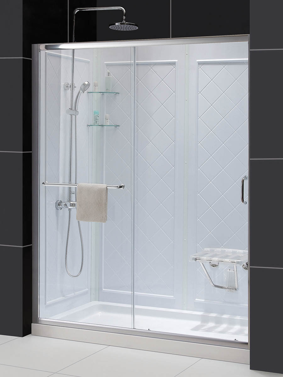 Dreamline Infinity Z Frameless Sliding Shower Door 36 By 48