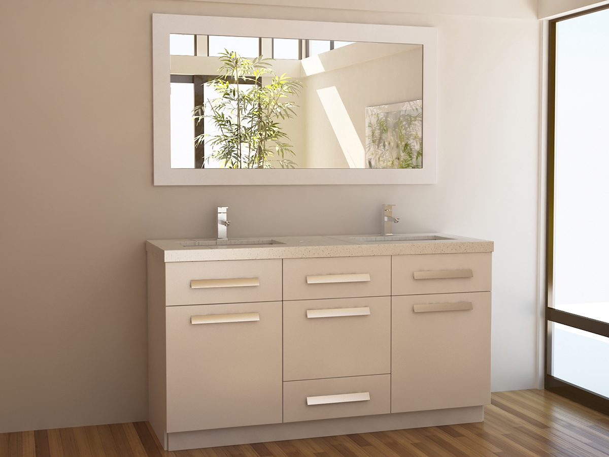 "60"" Moscony Double Sink Vanity"