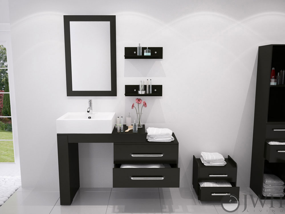 "33.5"" to 57"" Scorpio Single Vessel Sink Vanity"