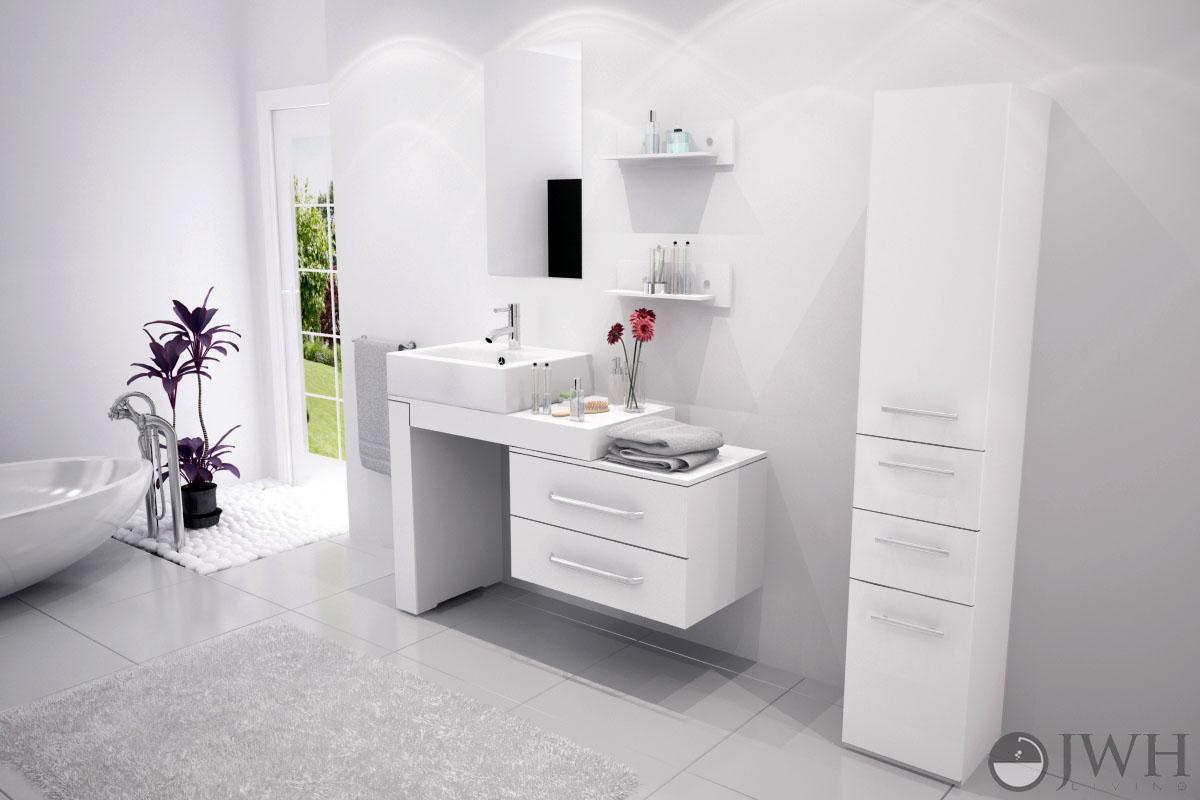 """33 Single Bathroom Vanity: 33.5"""" To 57"""" Scorpio Single Vessel Sink Vanity"""