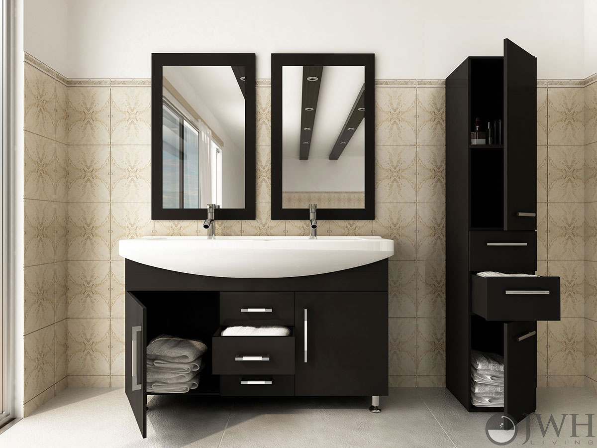 double sink vanity 48 inches. 48  Celine Double Sink Vanity 47 Bathroom Espresso Bathgems Com