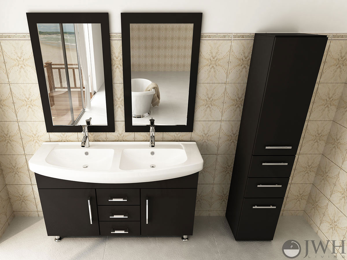 48 vanity with sink. 48  Celine Double Sink Vanity 47 Bathroom Espresso Bathgems Com