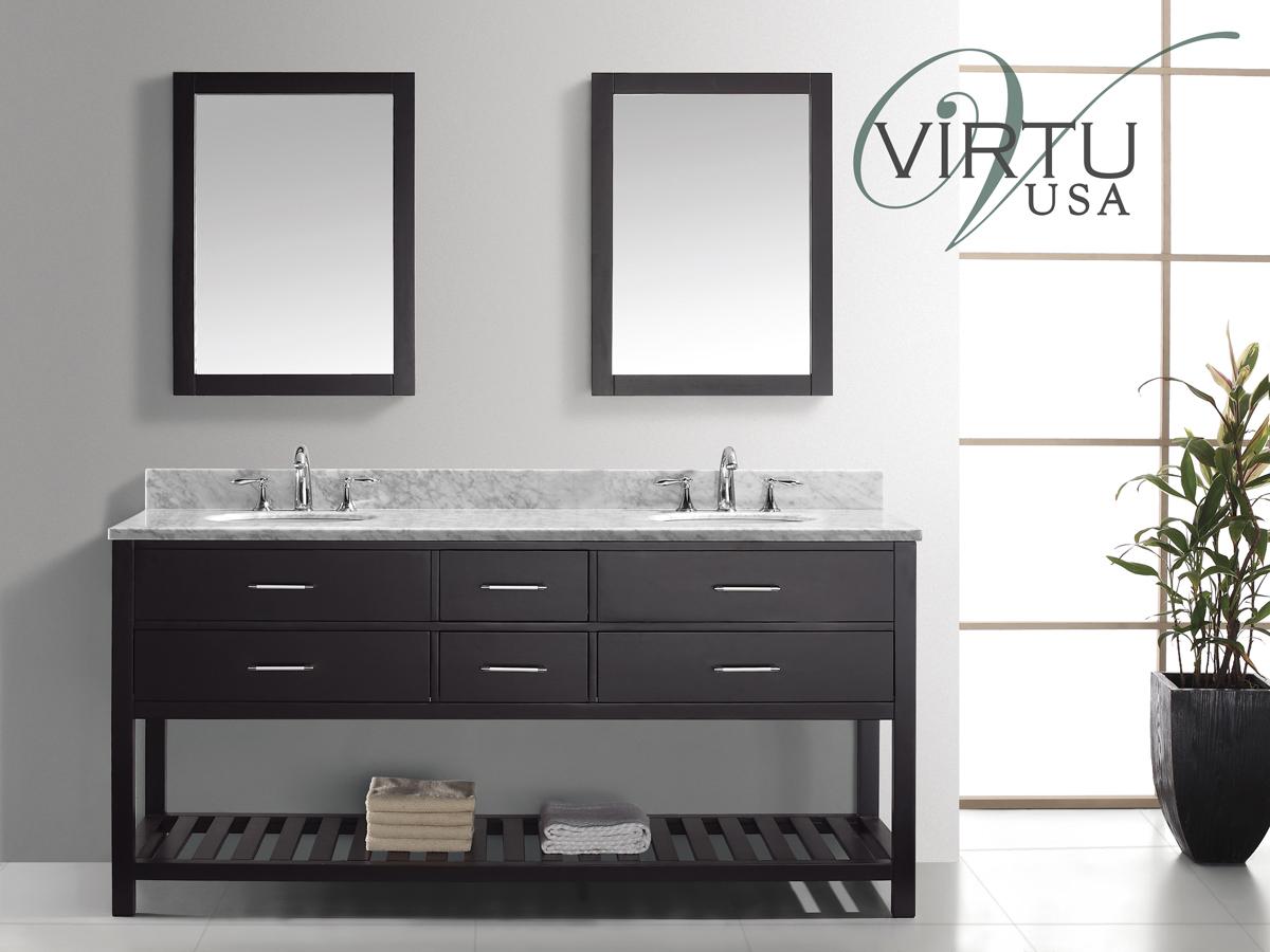 "73"" Caroline Estate Double Vanity - with Round Sinks"
