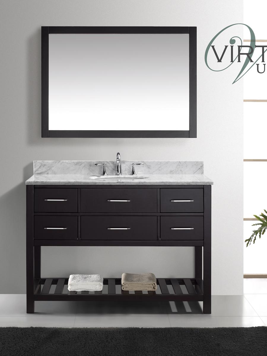"49"" Caroline Estate Single Vanity - with Round Sinks"