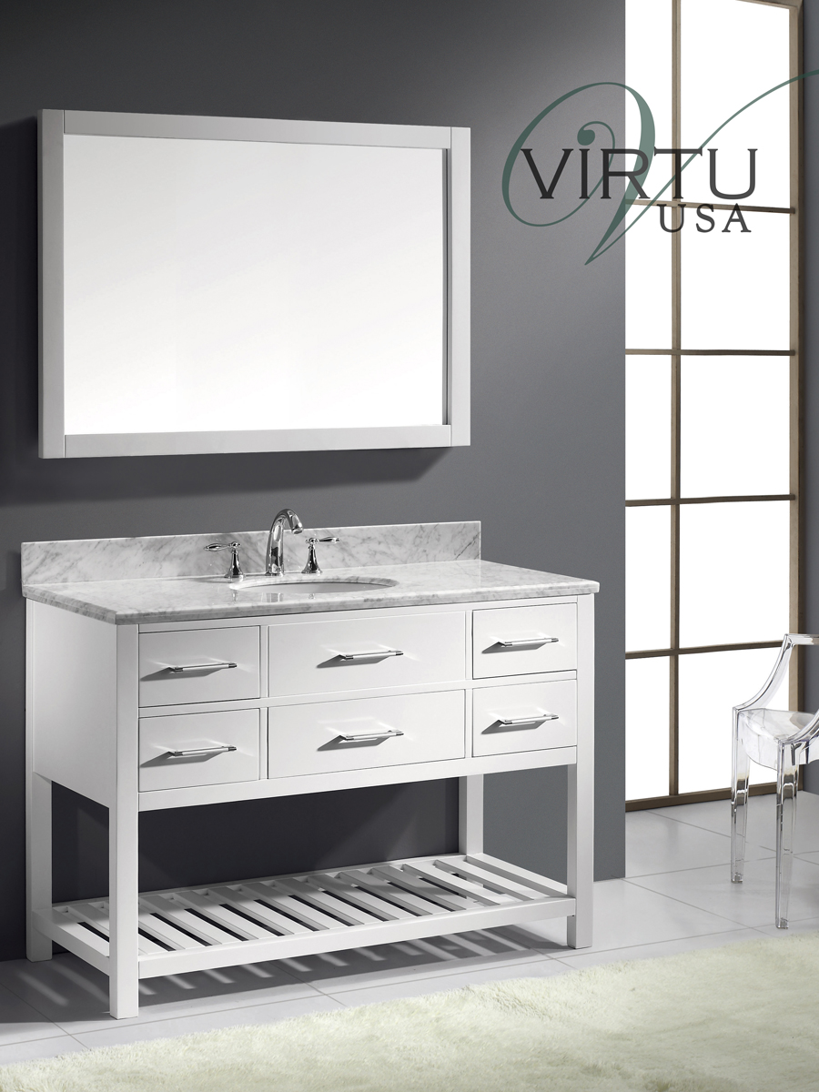 "49"" Caroline Estate Single Vanity - with Round Sinks"