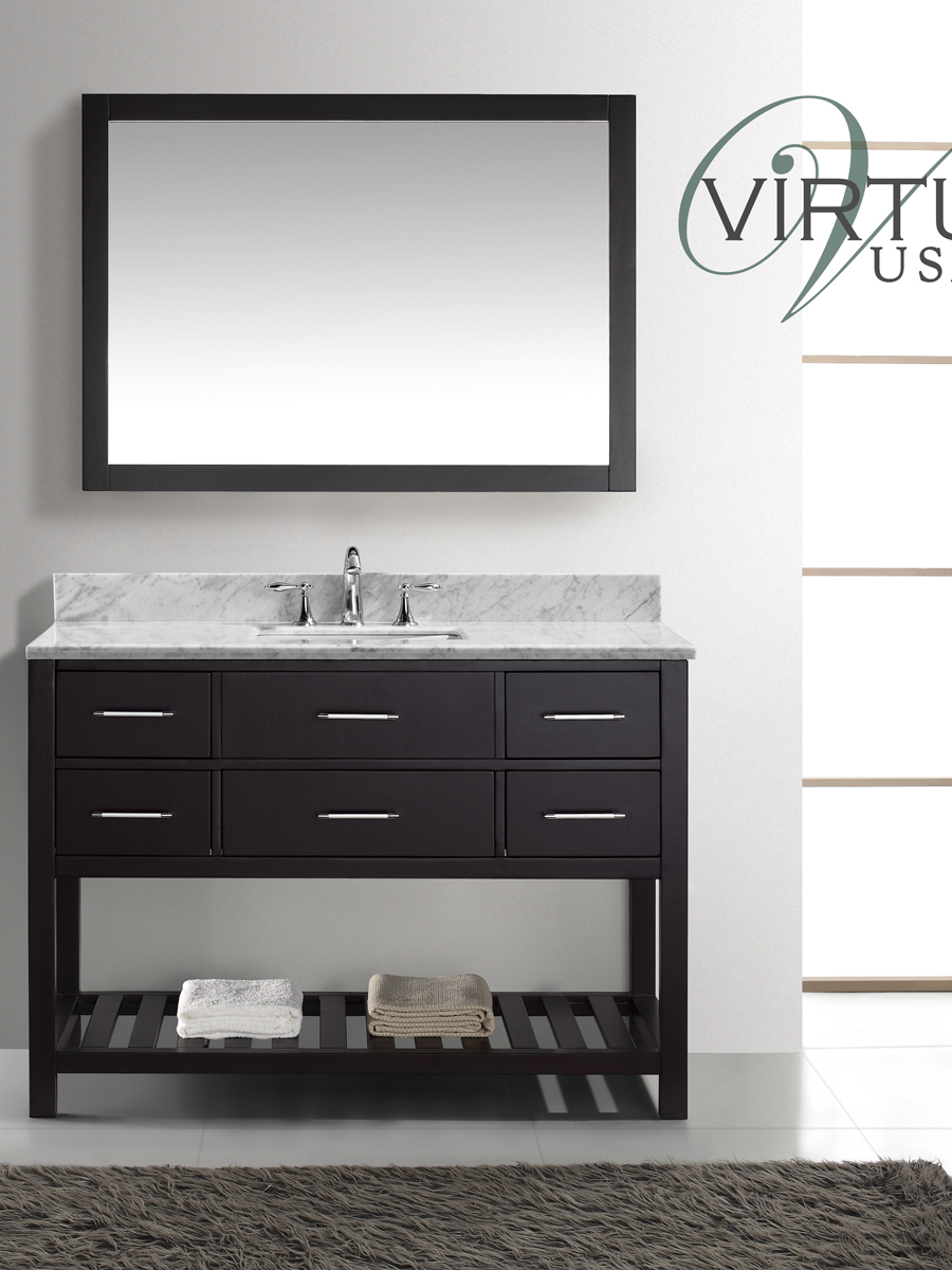 "49"" Caroline Estate Single Vanity - with Square Sinks"