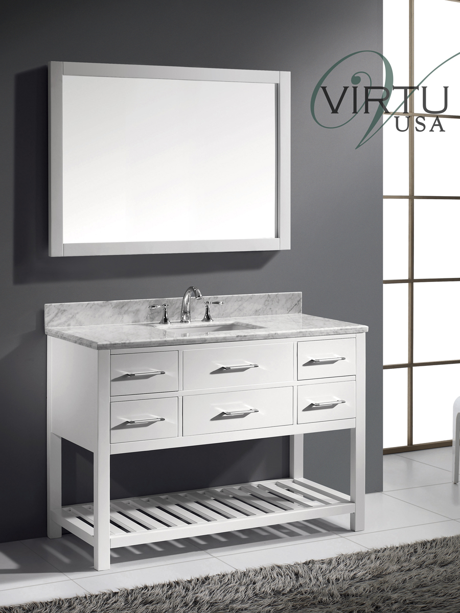 "49"" Caroline Estate Single Vanity - with Square Sinks"