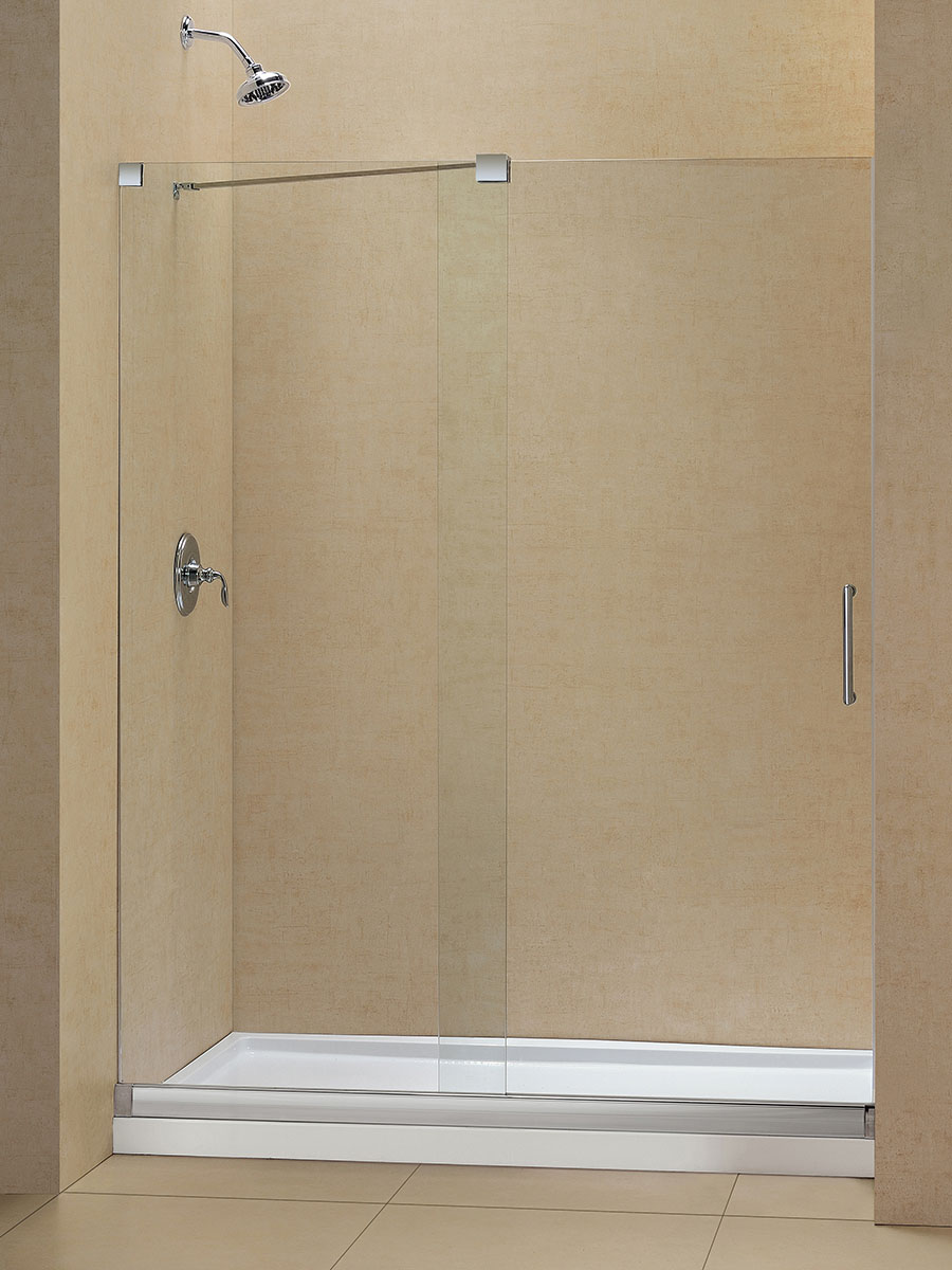 Rhine Sliding Glass Shower Door With Base