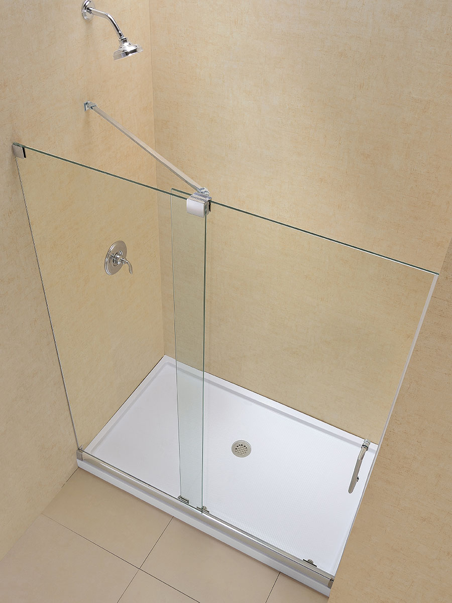 Dreamline Mirage Frameless Sliding Shower Door And Slimline 36 By