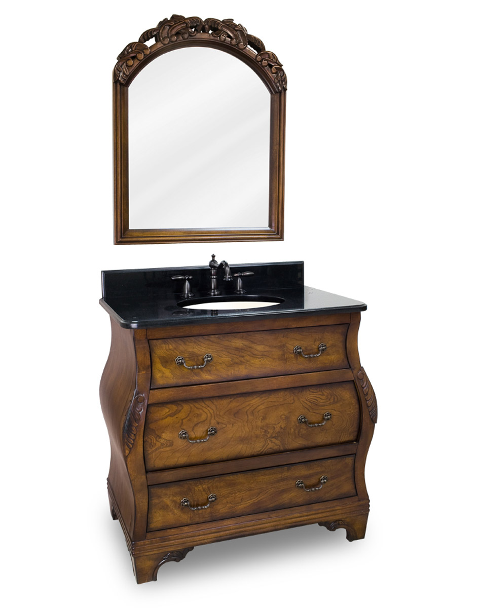 Vanity with optional mirror.