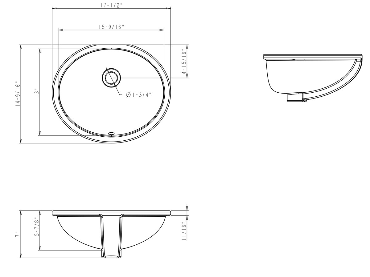 Sink Dimentions