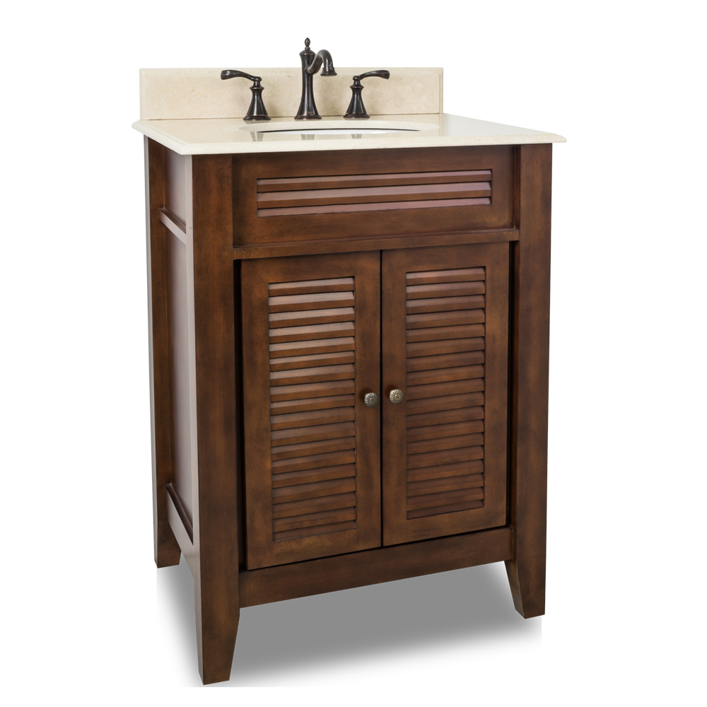 """26.5"""" Wolford Single Bath Vanity With Cream Marble Top"""