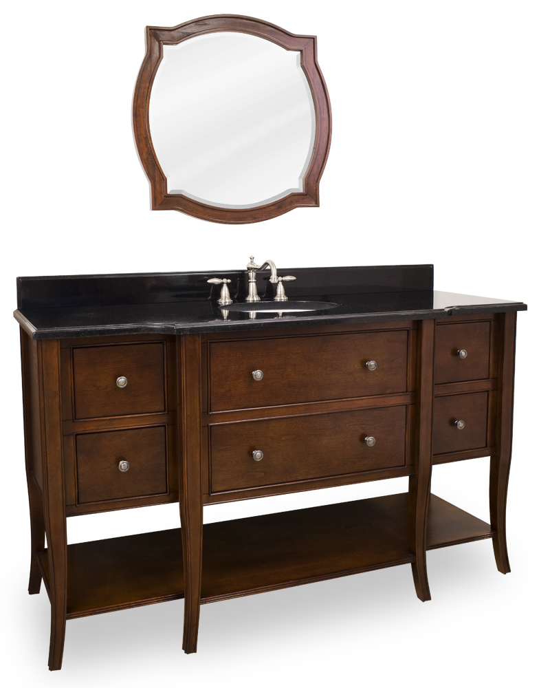 "60.5"" Laguna Single Bath Vanity With Mirror"