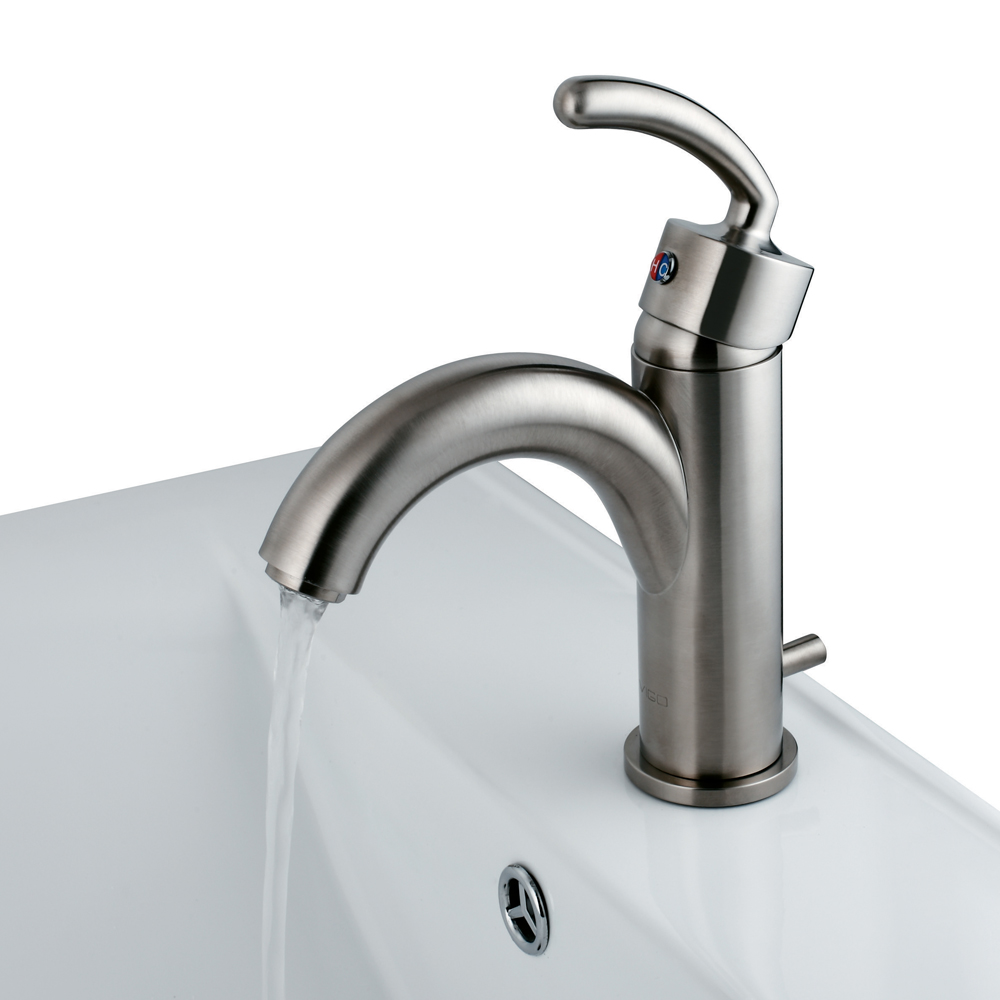 Single Lever Brushed Nickel Faucet