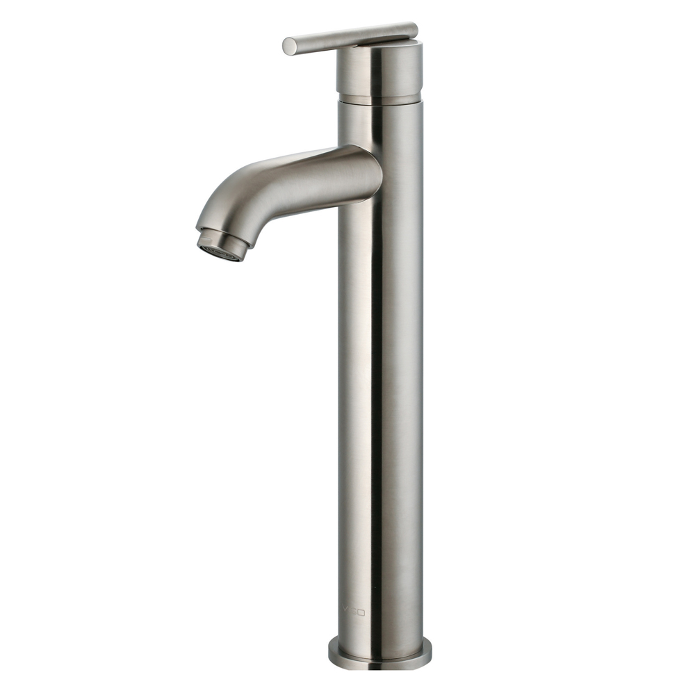 Single-Lever Vessel Faucet in Brushed Nickel
