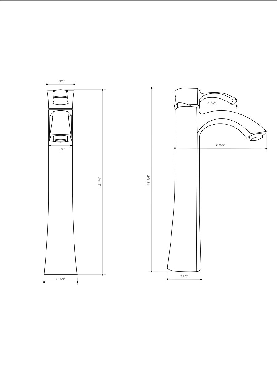Dimensions For Otis Vessel Faucet