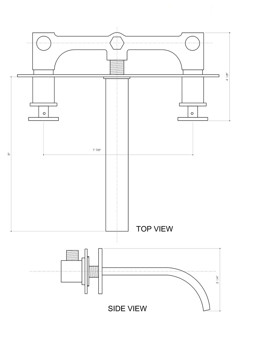 Wall Faucet (VG05002) - Dimensions