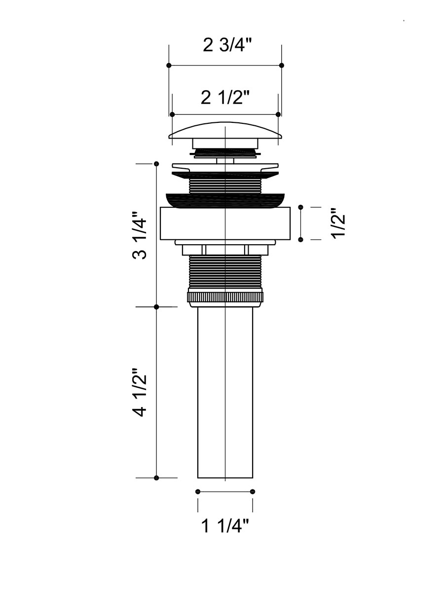 Waterfall Faucet - Dimensions