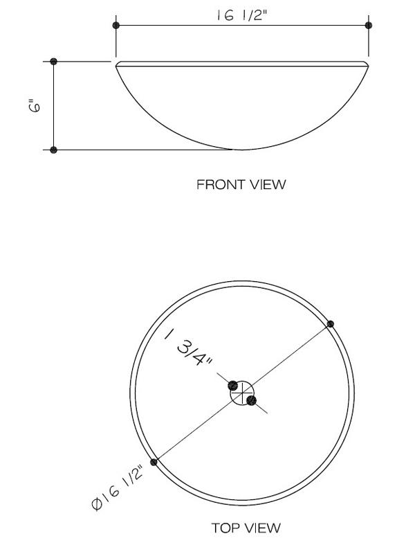 Dimensions for Golden Greek Vessel Sink