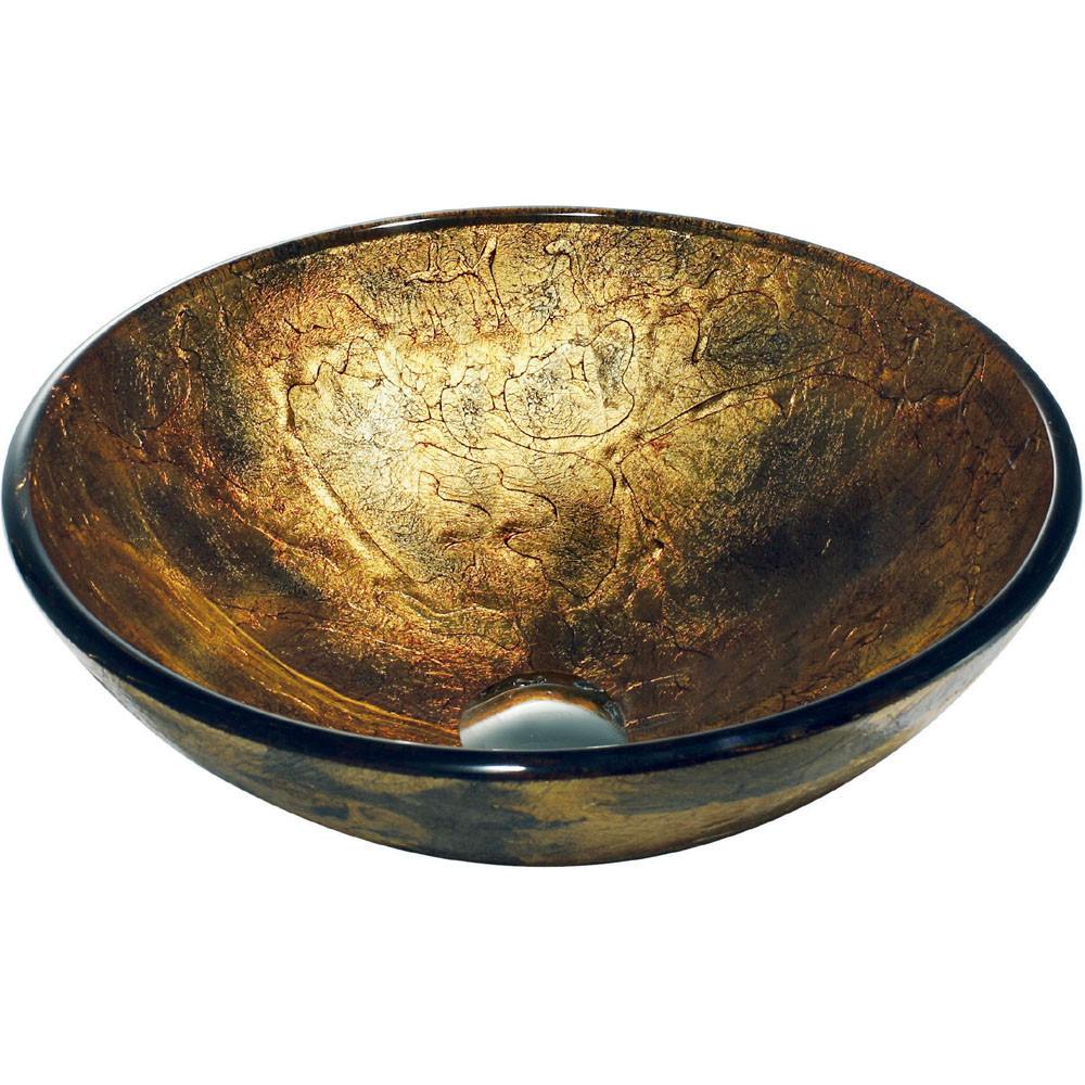 Copper Shapes Glass Vessel
