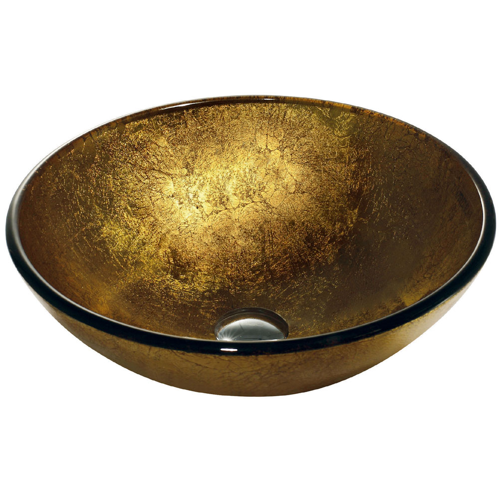 Charming Liquid Gold Vessel Sink