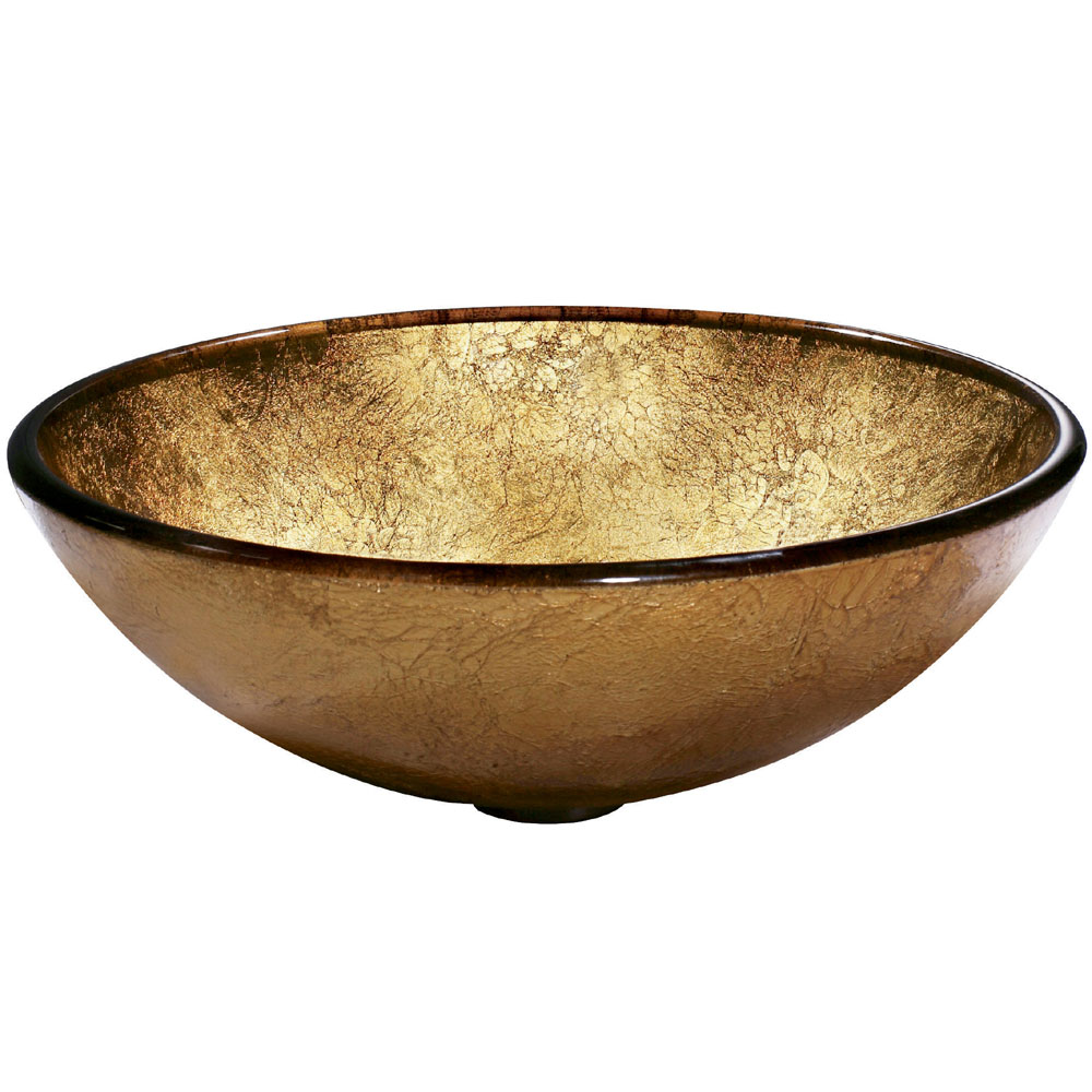 Side View of Liquid Gold Vessel Sink