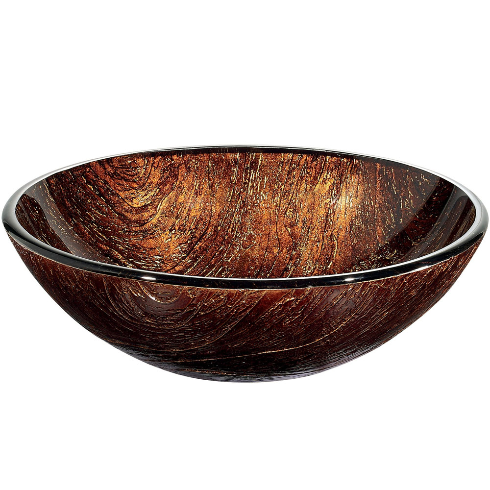 Side View of Kenyan Twilight Vessel Sink