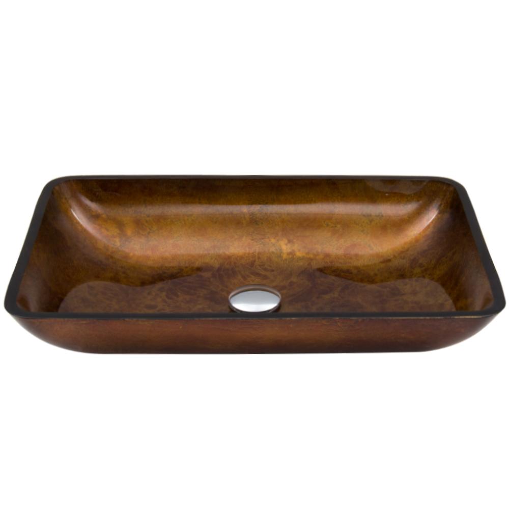 Rectangular Russet Vessel Sink