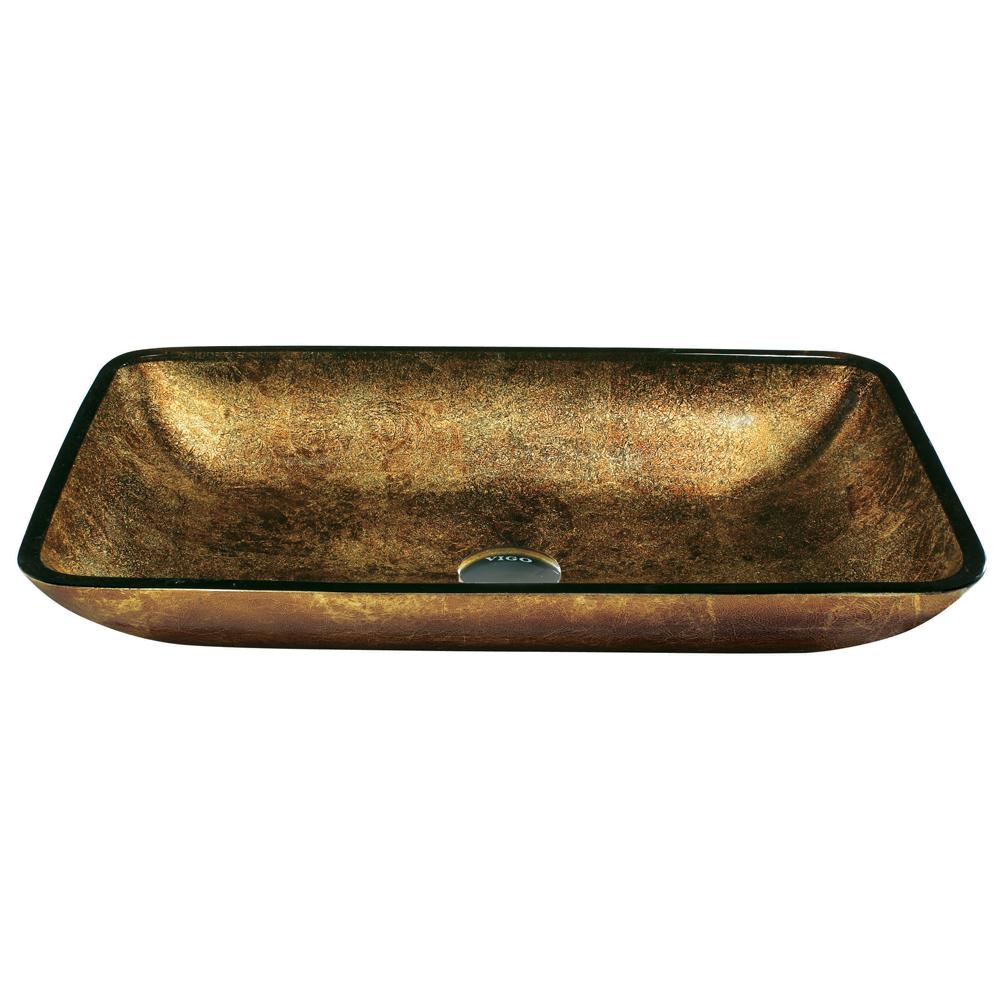 Rectangular Copper Vessel Sink