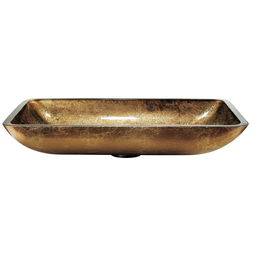 Rectangular Copper Vessel Sink - Side View
