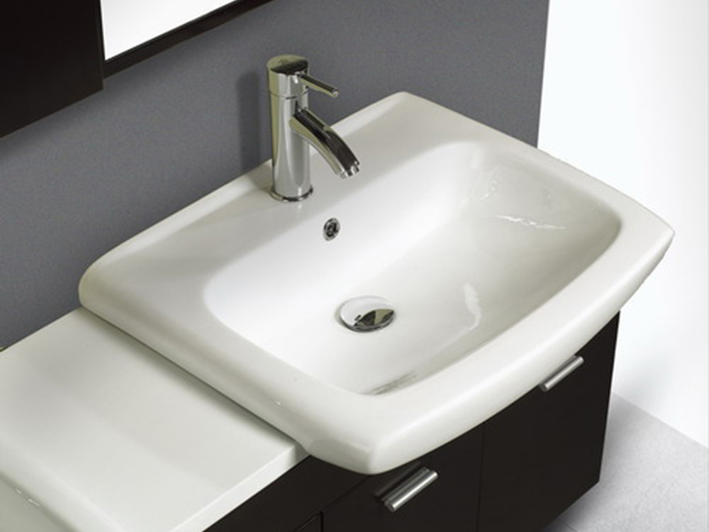 Ceramic double sink