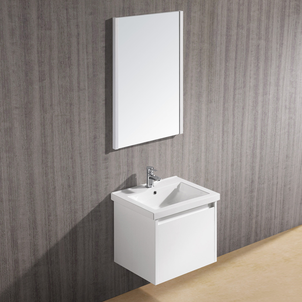 "23.5"" Bianca Wall-Mount Single Vanity with matching mirror"